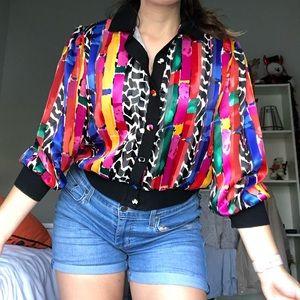 💛 vintage colorful jacket